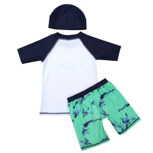 Kids Boys Swimsuit Whale Shark Swimwear Bathing Suit UV 50 Rash Guard Beashwear