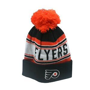 8b27fbd3f1e Philadelphia Flyers NHL Reebok Youth Boys (8-20) Cuffed Pom Knit ...