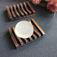 Wood Kitchen Bathroom Shower Sponge Soap Dish Plate Holder Container Shelf 1pc