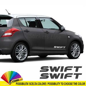 2-scritte-adesive-per-fiancate-Suzuki-SWIFT-adesivi-laterali-adhesive-strips