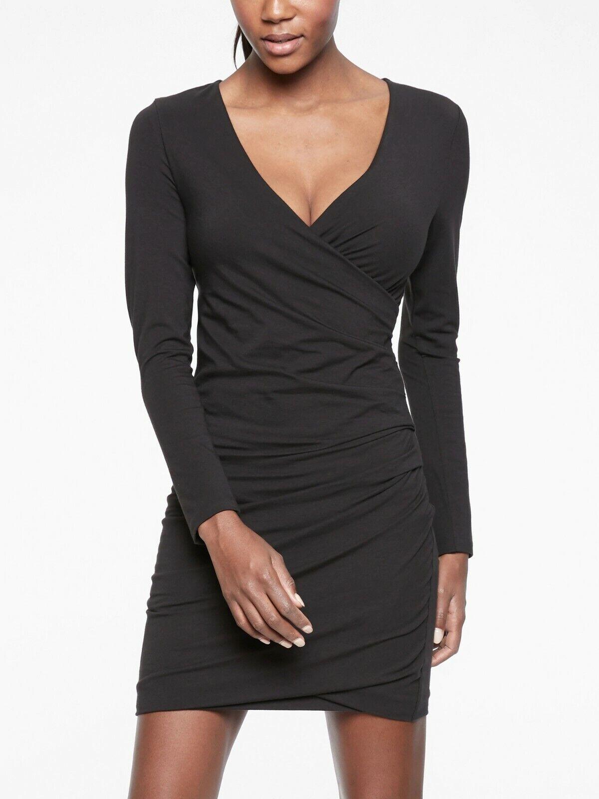 NWT Athleta Wilder Long Sleeve Dress, schwarz  Größe XLT   XL T  N0514