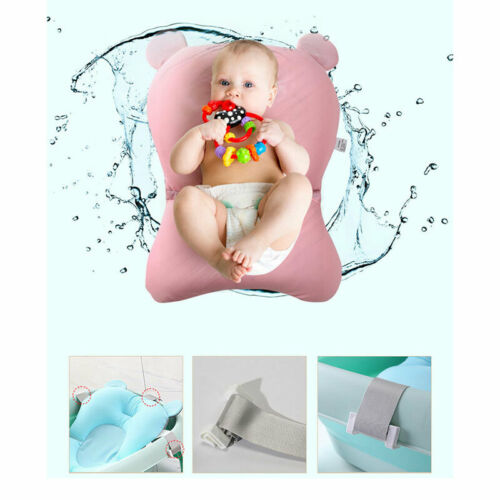 Baby Bath Pad Non-Slip Bathtub Mat New Born Safety Security Bath Seat Support UK