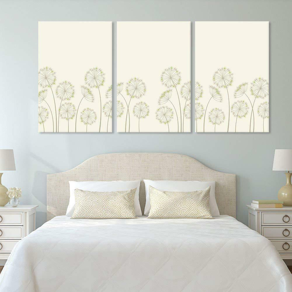 Wall263 Panel Hand Drawing Style Dandelions Gallery - CVS - 24 x36  x 3 Panels