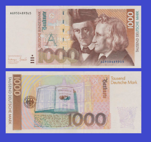 Germany 1000 mark marks 1993 UNC Reproduction