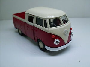 VW-T1-Doka-Red-White-Welly-Car-Model-Approx-1-3-4-1-3-8-New