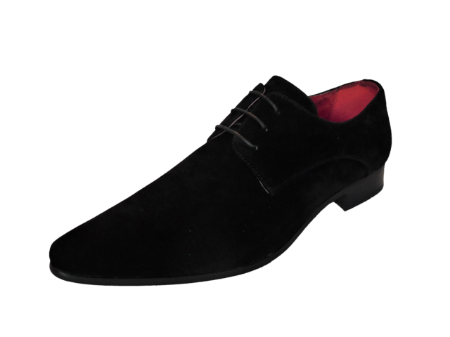 Mens Black Red Brown Grey Leather Lined Faux Suede Formal Wedding