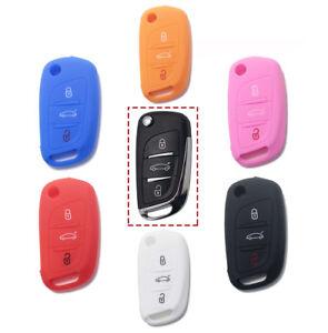 Guscio-in-Silicone-Cover-Chiave-Telecomando-Citroen-C2-C3-C4-C5-C8-Idea-Regalo