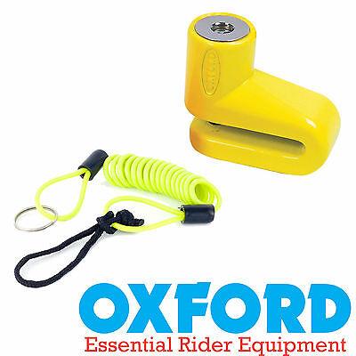 Oxford Junior Yellow Disc Lock & Disc Lock Reminder for Suzuki TU 250X Volty