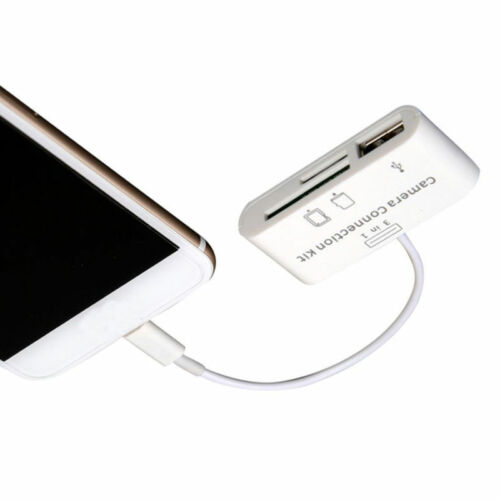 3 in 1 USB Micro SD TF Card Reader Camera Connecter Link For Iphone iOS 11 New