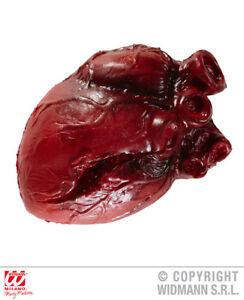 HALLOWEEN DECORATION HUMAN HEART 14 cm FANCY DRESS BODY ORGAN PROP