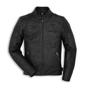 New-Spidi-Ducati-Heritage-C1-Leather-Jacket-Men-039-s-EU-54-Black-981041554