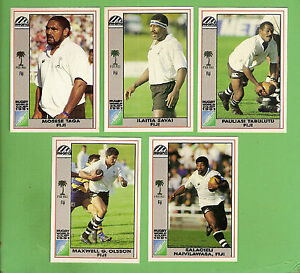 Image Is Loading D557 1991 FIJI RUGBY UNION WORLD CUP CARDS