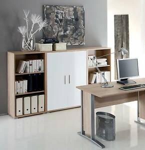 Aktenschrank Highboard Regal Schrank Buromobel Office Line In Eiche