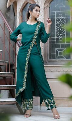 Women Pakistani Designer Dupatta Salwar Kameez  Readymade Ethnic Palazzo Kurta Set Top Tunic 3 piece Combo set Fully Stitched