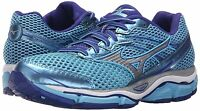 Mizuno Women's Wave Enigma 5 Running Shoes In Blue Grotto/silver/clematis Blue
