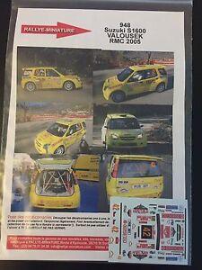 DECALS-1-43-SUZUKI-IGNIS-S1600-VALOUSEK-RALLYE-MONTE-CARLO-2005-RALLY-WRC