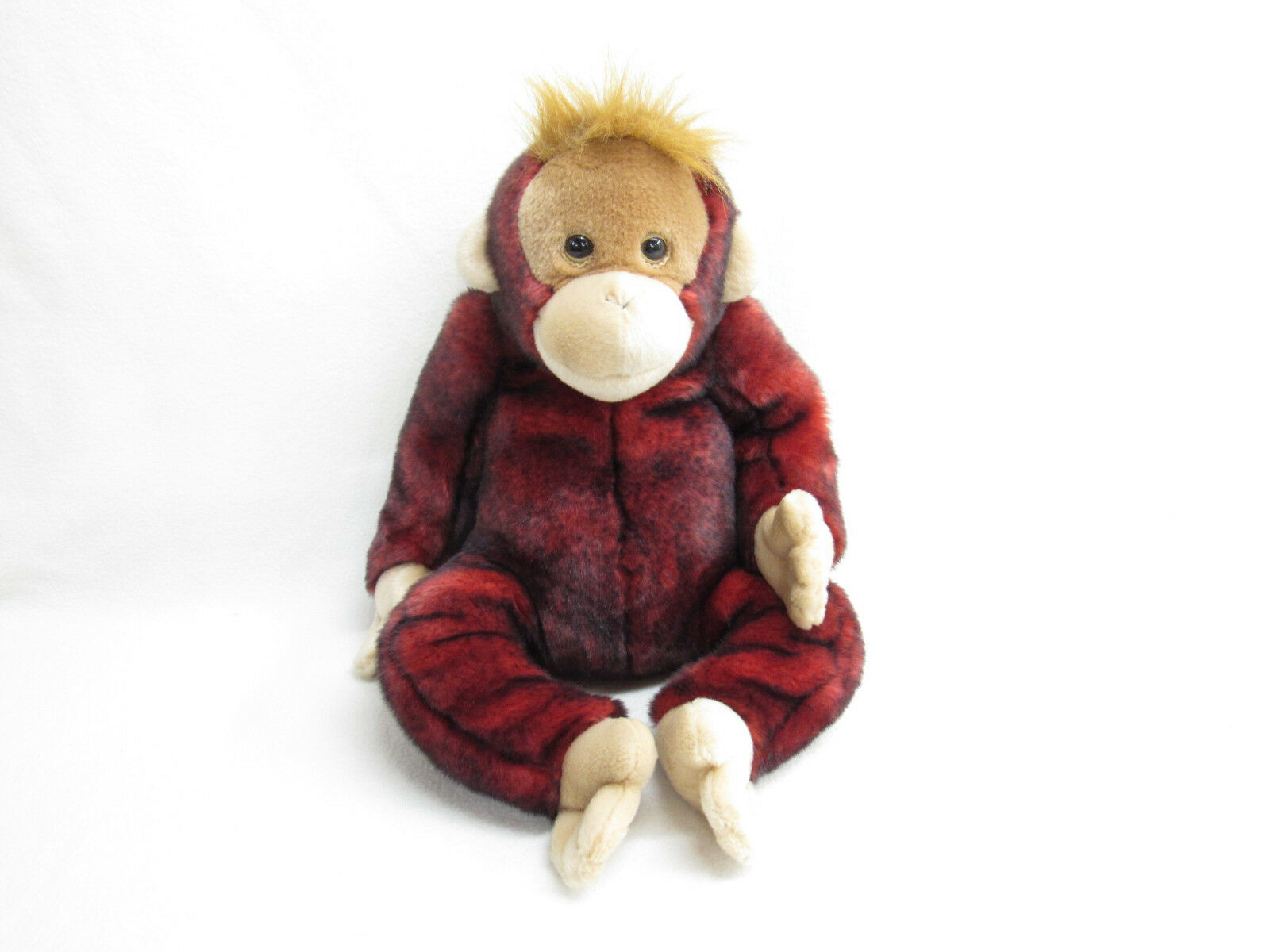 2000 LARGE TY MONKEY ORANGUTAN PLUSH RED 20 INCHES