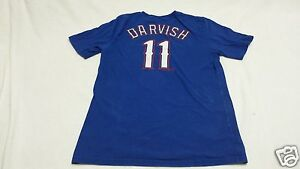 size 40 0cffd b033d Details about Texas Rangers Yu Darvish jersey t-shirt~Youth  XL~Majestic~MLB~#11