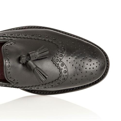 Leather Tassle Loafer Louis nere Scarpe Mens London Brogues formali  vON8wymn0P 5922c4379e6