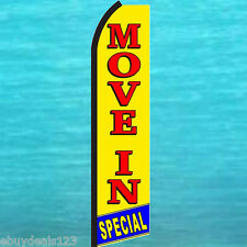 MOVE IN SPECIAL SWOOPER FLAG Tall Flutter Feather Advertising Sign Banner 1973