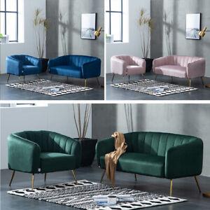 Velvet Corner Back Occasional Accent Chair Lounge Tub Sofa