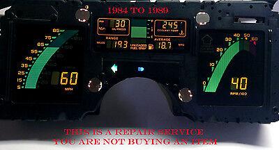 "86 87 88 89 CORVETTE DIGITAL INSTRUMENT CLUSTER SPEEDOMETER  /""REPAIR"