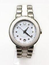 e3d96d1a5 Movado Women's Cerena 0606540 White Stainless-steel Swiss Quartz Watch