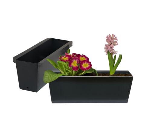 6x Pflanzkasten für Europalette Blumenkasten Pflanzkübel Balkon verzinkt schwarz