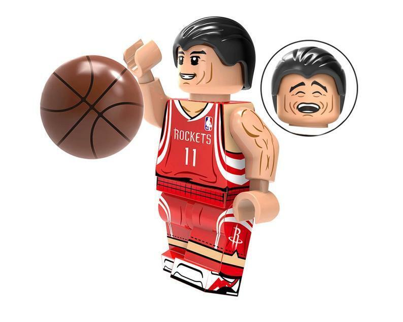 Professional Basketball Player O/'Neill Curry James Kobe Wade Lego Moc Minifigure