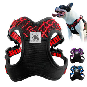 Dog Cat Harness Pet Control No Pull Mesh Vest Safety Walk Collar Bulldog XS S M