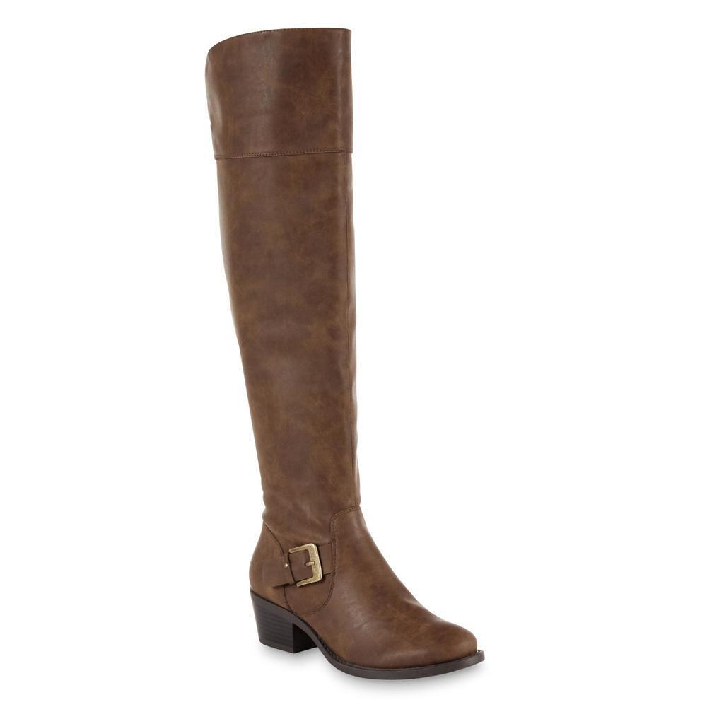Route 66 Women's Hazel Brown Over-the-Knee Boots Size 5 Medium