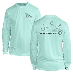 9aea43f538a44 Image is loading Microfiber-Long-Sleeve-Permit-Fly-Fishing-Shirt-UPF50-
