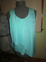 Women's Harve Bernard Green Sleeveless Top Size M $44.50 Cute