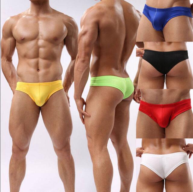 Men's Mini Boxer Briefs Underwear Comfy Enhance Bulge Pouch Bikini Boxers SP