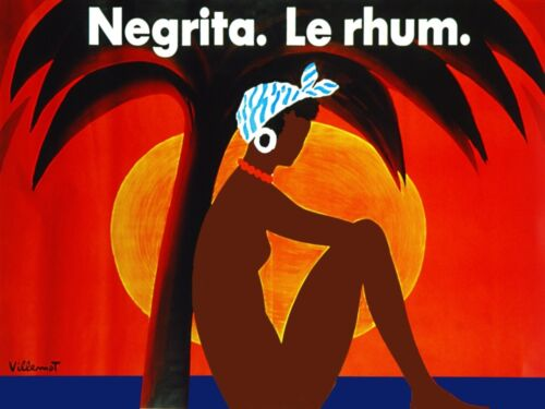 3199.Le Rhum Negrita.Tropical Paradise POSTER.French Wine.Room Kitchen Home art