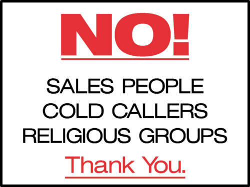 ALL SIZES FREE P+P NO SALES PEOPLE SIGNS OR STICKERS ALL MATERIALS