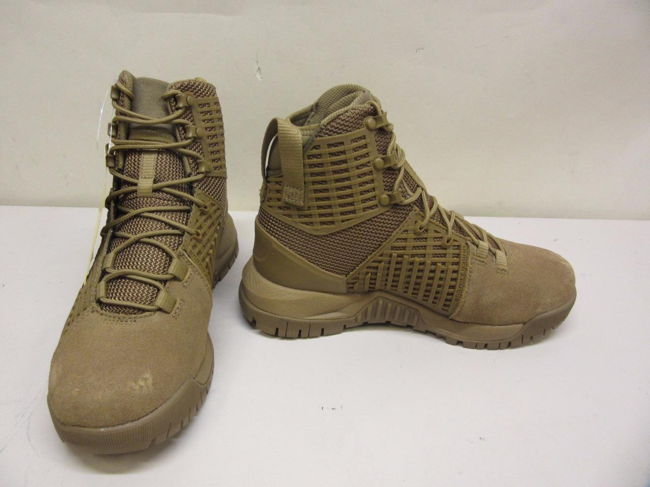 Under Armour Stryker Women's Size 7 SMS Sample Hiking Boots Shoes Tan