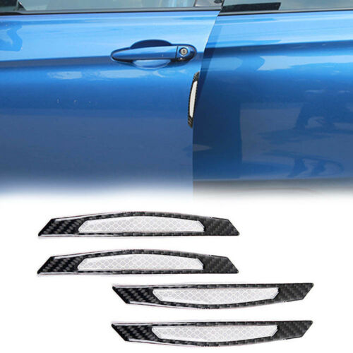 White Reflective Carbon Fiber Car Side Door Edge Protection Guard Trim Stickers