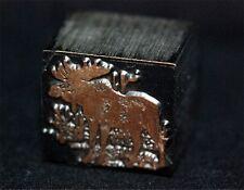 Moose Print Block, Letter press, Printers Block, Metal Block, Stamp Metal Stamp