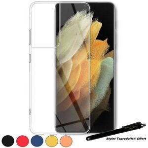 Coque de protection silicone souple pour Samsung Galaxy S21 Ultra