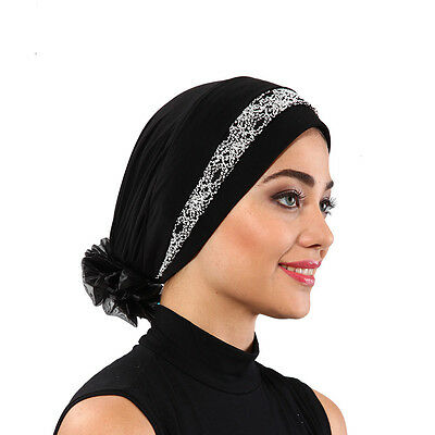 US Seller! NEW Women Bonnet Cancer Chemo Hijab Turban Cap Beanie Colors ,