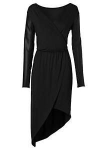 Das Bild wird geladen Rainbow-Damen-Kleid-asymmetrisch-Abendkleid- Wickelkleid-schwarz-32- 49dfd95278