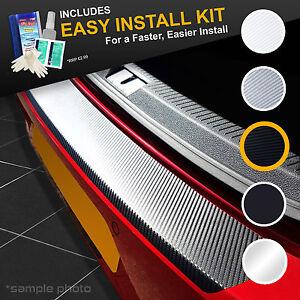 BMW-X1-2009-2013-Black-Carbon-Vinyl-Rear-Bumper-Protector-KIT