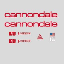 Cannondale R700 Bicycle Frame Stickers - Decals - Transfers: Red. n.100