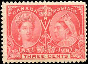 1897-Mint-NH-Canada-F-Scott-53-3c-Diamond-Jubilee-Issue-Stamp