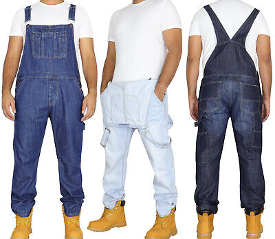 Mens Denim Dungarees Stonewash Overalls Work by Enzo Jeans All Waist Size 30-50