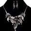 Fashion-Women-Rhinestone-Crystal-Choker-Bib-Statement-Pendant-Necklace-Chain-Set thumbnail 5