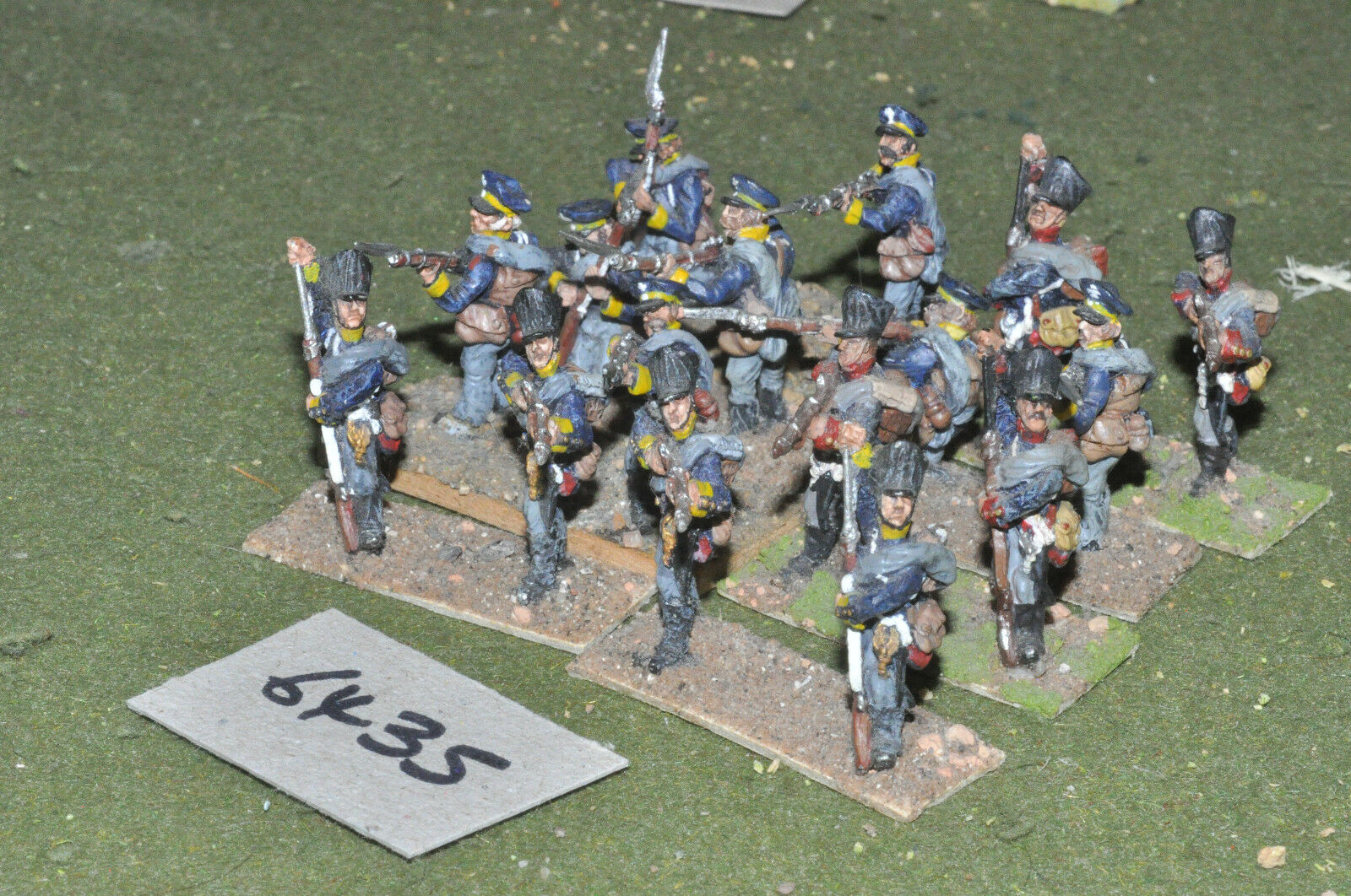 25mm napoleonic   prussian - infantry 16 figs metal painted - inf (6435)