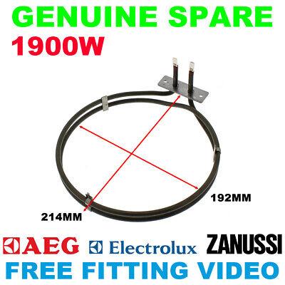 Fan Oven Element AEG Electrolux Zanussi Cooker 3871425124 1900W Genuine