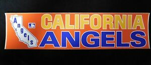California-Angels-1970-039-s-Vintage-3-034-x15-034-MLB-Baseball-Original-Bumper-Sticker